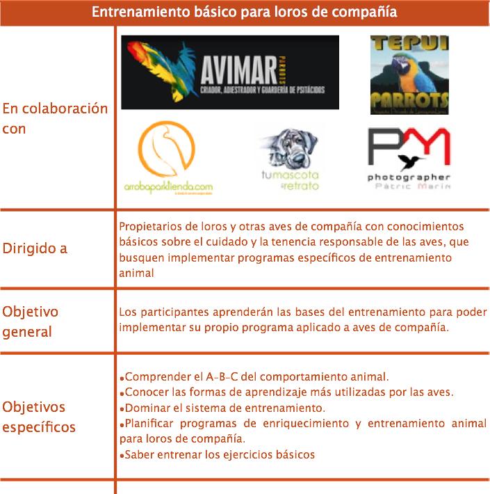 Valladolid. Educación básica para loros de compañía 1